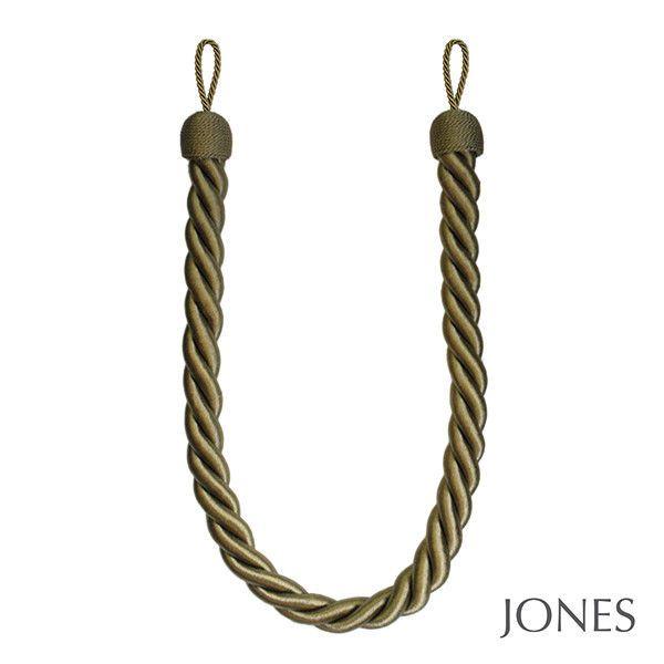 2 OLIVE GREEN Curtain Rope Tiebacks LARGE CHUNKY JUMBO